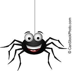 noir, araignés