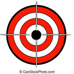 noir, bullseye, cible, blanc rouge
