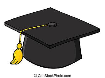 noir, casquette, remise de diplomes