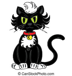 noir, cat.