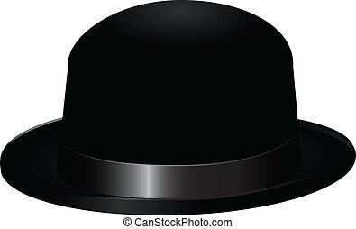 noir, chapeau joueur boules