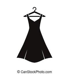 noir, cintre, robe