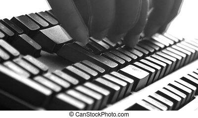 noir, clavier
