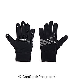 noir, gants cycle