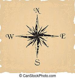 noir, grunge, compas