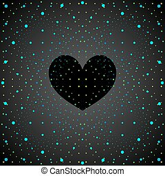 noir, heart., espace