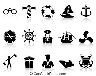 noir, icônes, voile
