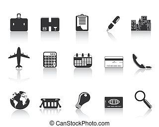 noir, icones affaires