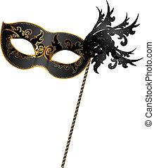 noir, masque, or