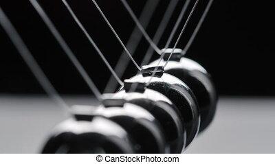 noir, mouvement, tir, acier, balles, fond, newton