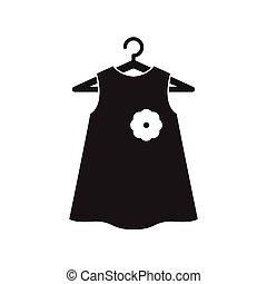 noir, peu, cintre, robe