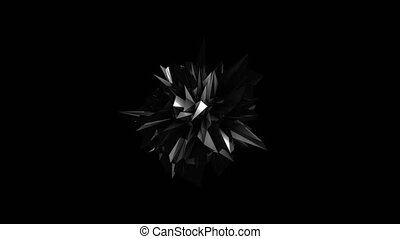 noir, résumé, fractal, géométrique, élément