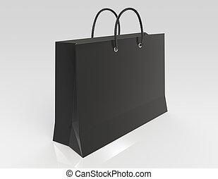 noir, sac à provisions