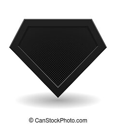 noir, superhero, template., logo