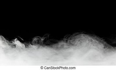 noir, toile de fond, dense, isolé, fumée