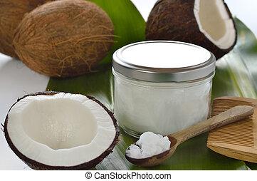 noix coco, noix coco, huile, organique