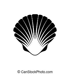 noix saint jacques, seashell, icône