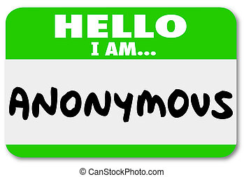 nom, classifié, top secret, étiquette, anonyme, unnamed, identité