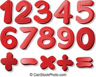 nombre, rouges