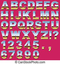 nombres, chrome, lettres