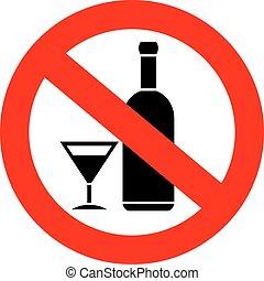 non, alcool, signe