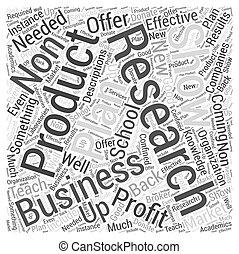 non, concept, mot, business, profit, école, plan, nuage