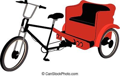 non, couverture, pedicab