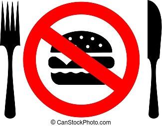 non, manger, signe