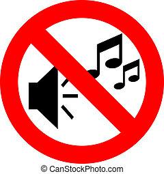 non, musique, signe