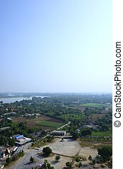 non-urbain, kwai rivière, vue