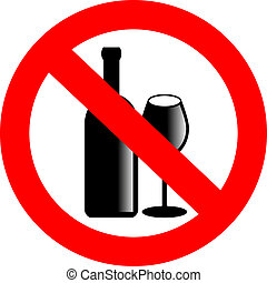 non, vecteur, alcool, signe