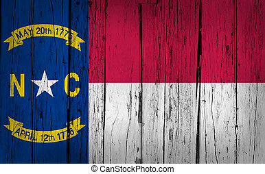 nord, drapeau état, fond, grunge, caroline