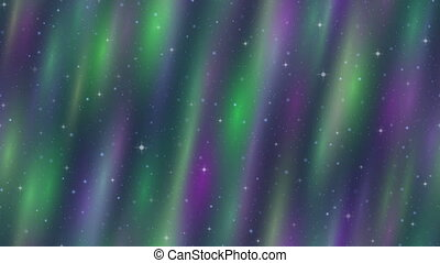 nord, espace, seamless, lumières, boucle, vide