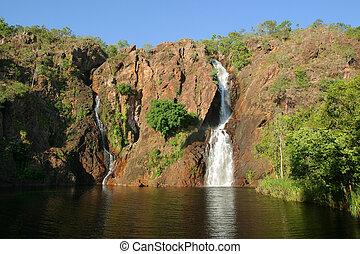 nord, litchfield, national, wangi, park., falls., australia., territoire