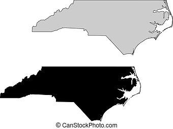 nord, projection., map., noir, white., mercator, caroline