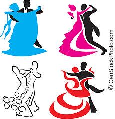 norme, -, danse, icône