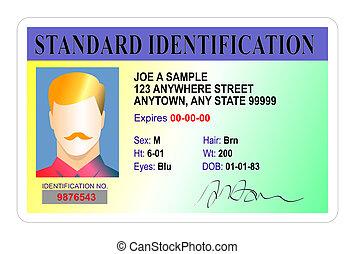 norme, mâle, carte identification