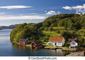 norvège, méridional, paysage
