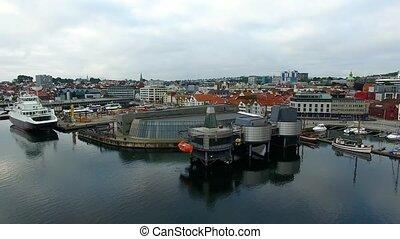 norvégien, pétrole, vue dessus