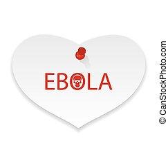 note, épidémie, virus, papier, ebola, avertissement