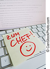 note, aller, informatique, keyboard:, patron