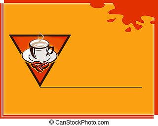 note, café, carte, temps