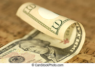 note, dollar, dix