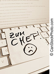 note, informatique, keyboard:, patron