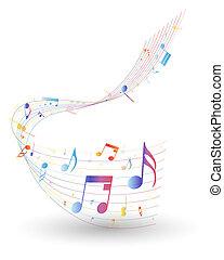 note, multicolore, personnel musical