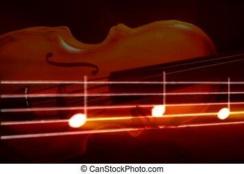 note, musique, musique, violon