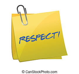 note, respect, écrit, illustration, collant