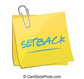 note, setback, illustration, poste