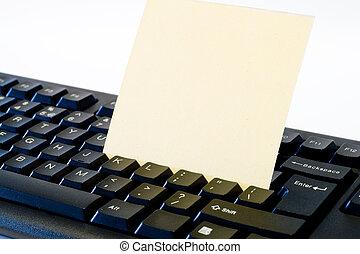 note, vide, clavier