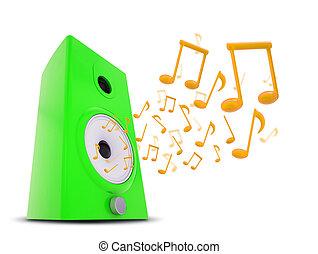 notes, audio, musique, autour de, interlocuteurs